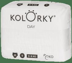 KOLORKY DAY NATURE - S (3-6 kg) - 25 ks - jednorázové eko plenky