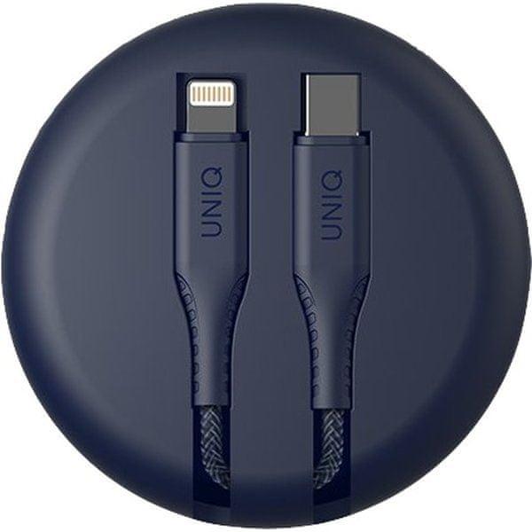 UNIQ Halo USB C to Lightning cable 1.2m Ash Blue modrý, UNIQ-HALO(CTMFI)-BLUE