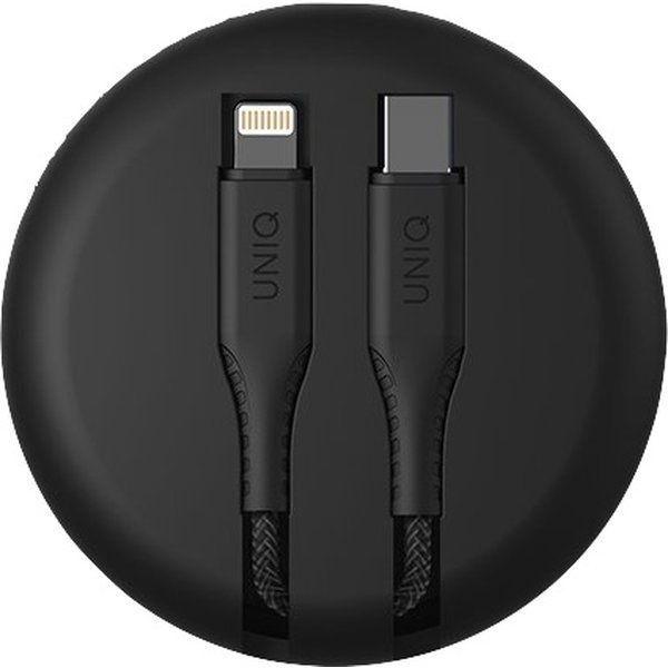 UNIQ Halo USB C to Lightning cable 1.2m Midnight Black černý, UNIQ-HALO(CTMFI)-BLACK