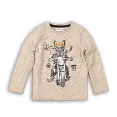 Minoti Tričko chlapecké bavlněné s dlouhým rukávem LIMIT 9 74-80 béžová