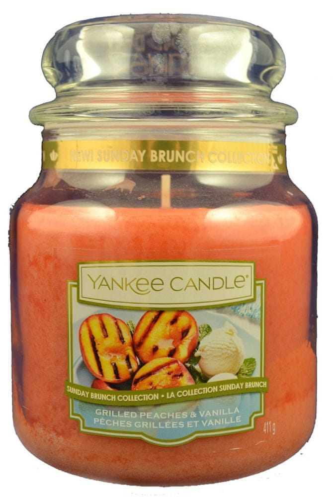 Yankee Candle Classic střední 411 g Grilled Peaches & Vanilla