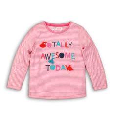 Minoti Tričko dívčí bavlněné s dlouhým rukávem LODGE 5 74 - 80 růžová