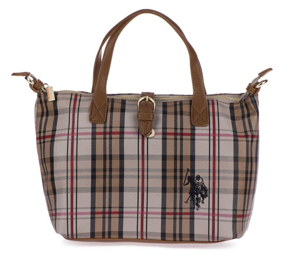 U.S. Polo Assn. vícebarevná kabelka Patterson Checked Small Shopping