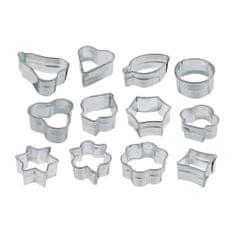 Zenker modelčki za piškotke MINI, 12 kosov, različne oblike, pločevina