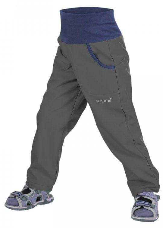 Unuo Chlapecké softshellové kalhoty bez zateplení New, 128/134 - antracitové