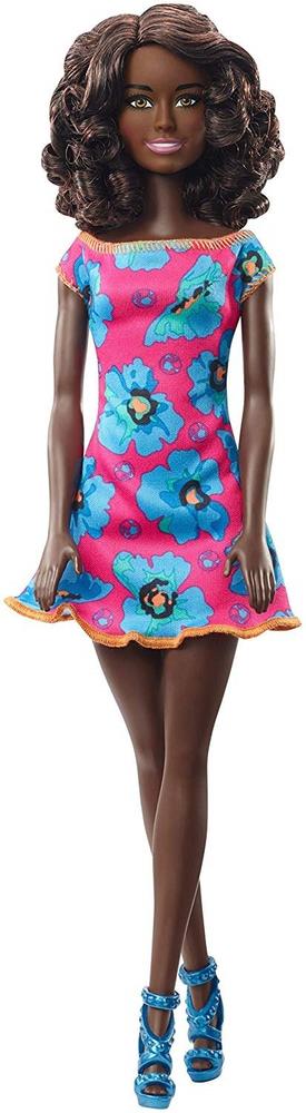 Mattel Barbie panenka černoška růžové šaty