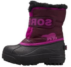 Sorel Dziewczęce śniegowce Childrens Snow Commander 1869561562 13 fioletowe