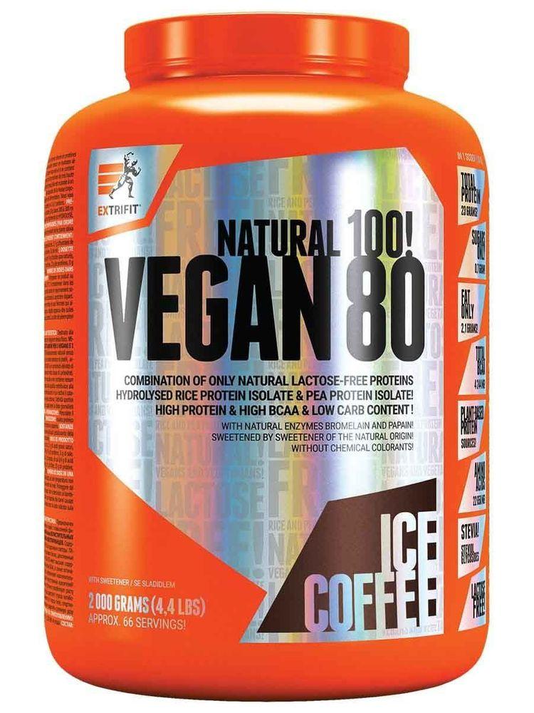 Extrifit Vegan 80 2000 g lískový oříšek