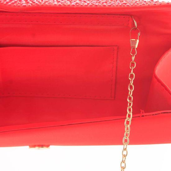 Michelle Moon Atraktivní zdobené dámské psaníčko Dolores Tatiana, červené