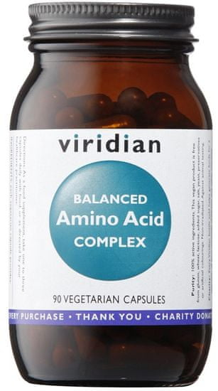 VIRIDIAN nutrition Balanced Amino Acid Complex (Směs esenciálních aminokyselin) 90kapslí