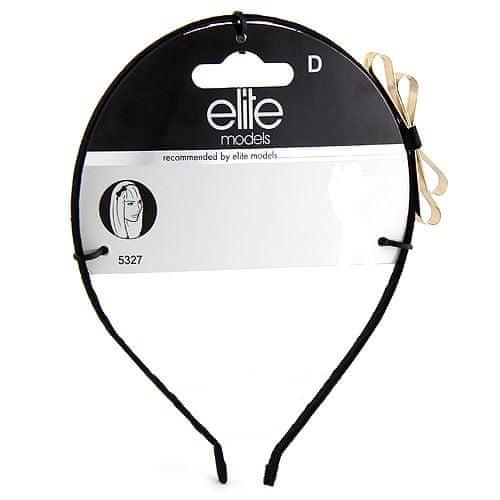 Elite Models Čelenka s mašlí , kovová, černá