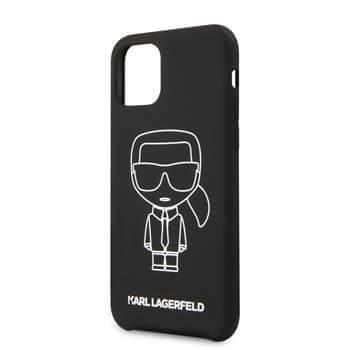 Karl Lagerfeld Ikonik Outline Silikonový Kryt pro iPhone 11 Pro White (EU Blister), KLHCN58SILFLWB