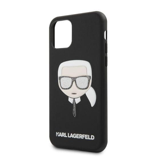 Karl Lagerfeld Embossed Glitter Kryt pro iPhone 11 Black (EU Blister), KLHCN61GLBK