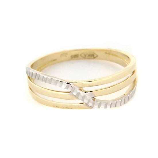 Amiatex Zlatý prsteň 13462 + Nadkolienky Gatta Calzino Strech, 53, 1.9 G