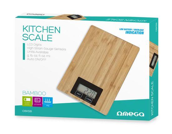 Platinet Omega OBKSB lesena kuhinjska tehtnica, bambus