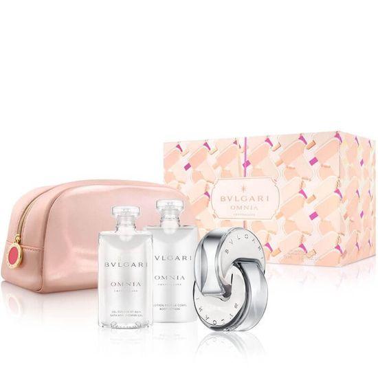 Bvlgari Omnia Crystalline - EDT 65 ml + gel za tuširanje 75 ml + mlijeko za tijelo 75 ml + kozmetička torbica