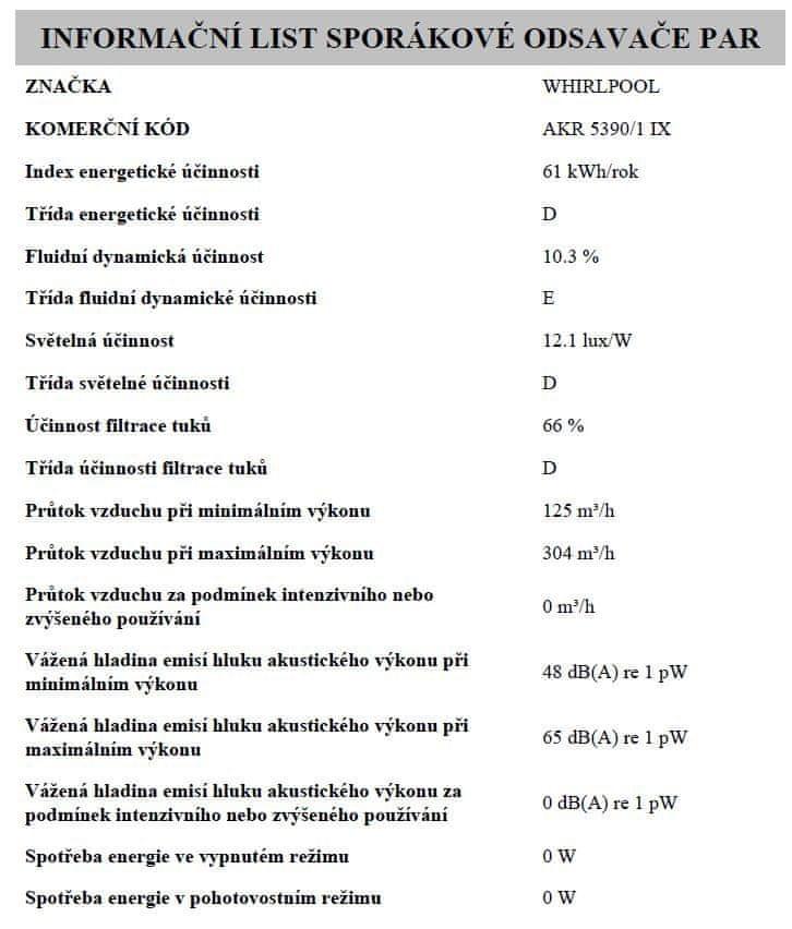 Whirlpool AKR 5390/1 IX
