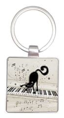 Kiub obesek za ključe, mačkon klaviaturist (1356)