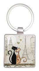 Kiub obesek za ključe, zaljubljena mačkona v Parizu (1357)