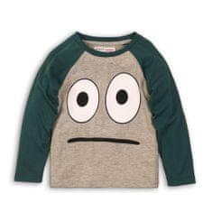 Minoti BW LTEE 12 fantovska majica z dolgimi rokavi, sivo-zelena, 74–80