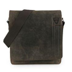 Strellson Pánská kožená taška přes rameno Richmond 4010001164 hnědá