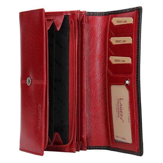 Lagen Női bőr pénztárca Red/Blk