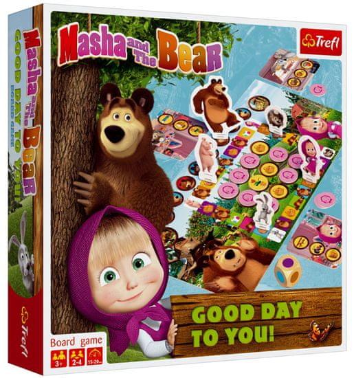 Trefl Máša a medvěd-Přeji hezký den společenská hra