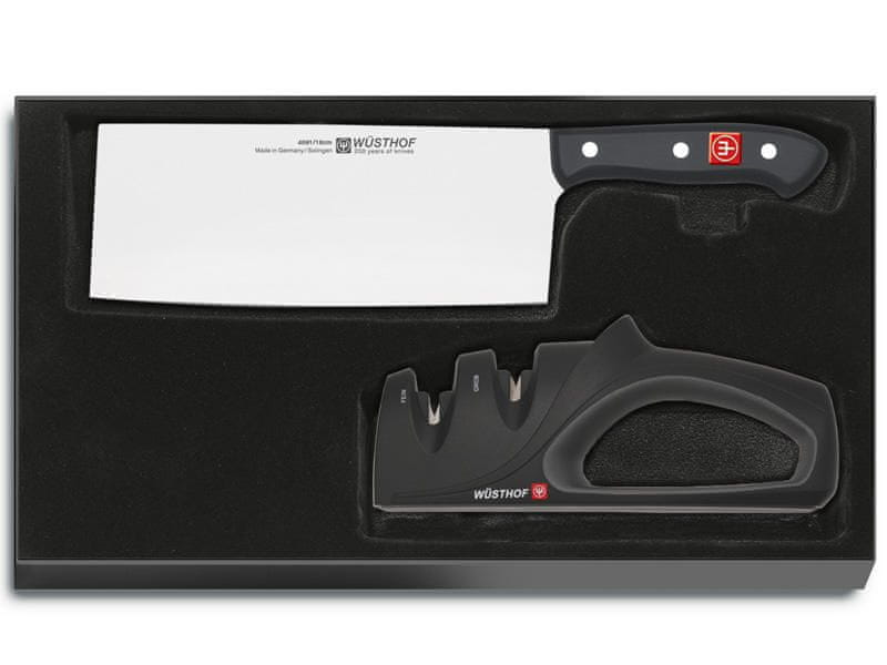 Wüsthof 9282 GOURMET Sada čínský kuchařský nůž a brousek