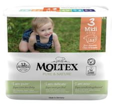 MOLTEX Plenky Pure & Nature Midi 4-9 kg (33 ks)