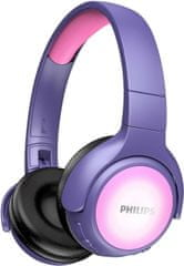 Philips TAKH402 brezžične otroške slušalke, vijolično-roza