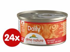 Almo Nature Daily Menu Kousky s hovězím 24 x 85 g