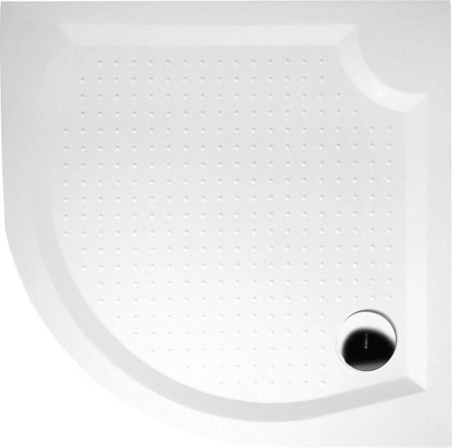 Gelco VIVA100 sprchová vanička z litého mramoru, čtvrtkruh 100x100x4cm, R550 (GV551)