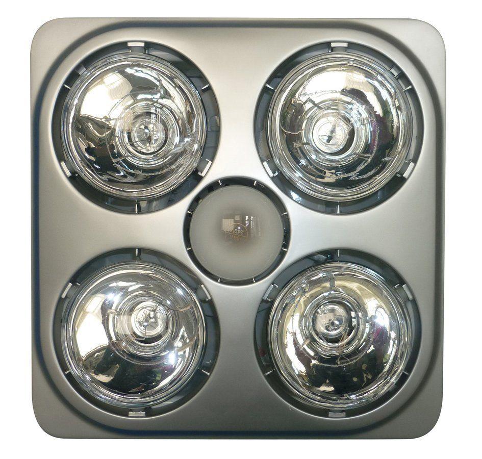 SAPHO Stropní koupelnový infrazářič s osvětlením a ventilátorem, 1240 W, stříbrná (TC582)