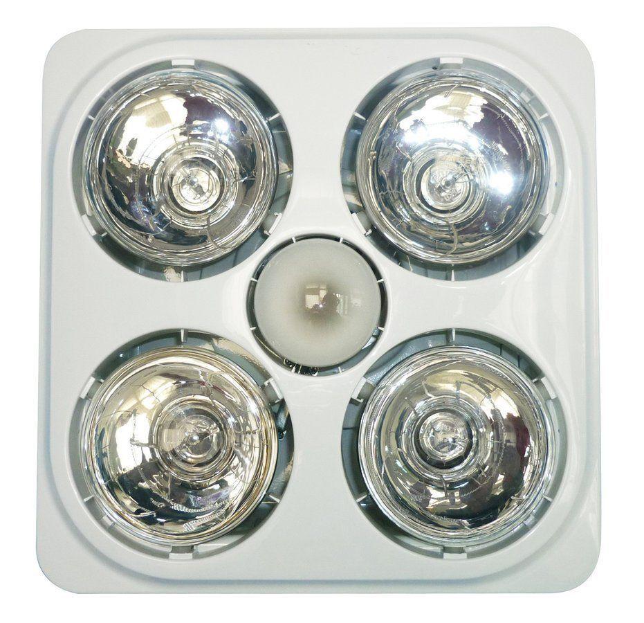 SAPHO Stropní koupelnový infrazářič s osvětlením a ventilátorem, 1240 W, bílá (TC545)