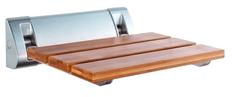 AQUALINE Sklopné sedátko do sprchového koutu 32x32,5cm, bambus - AE236