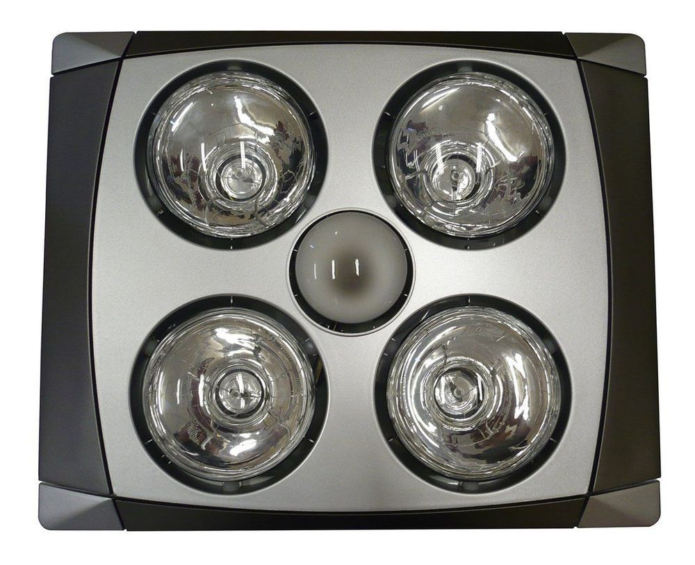 SAPHO Stropní koupelnový infrazářič s osvětlením a ventilátorem, 1240 W, chrom mat (TC516)