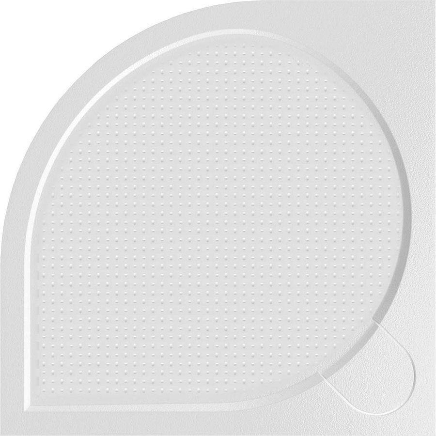 Gelco ARCA sprchová vanička z litého mramoru, čtvrtkruh, 90x90x3 cm, R550 (PA559)