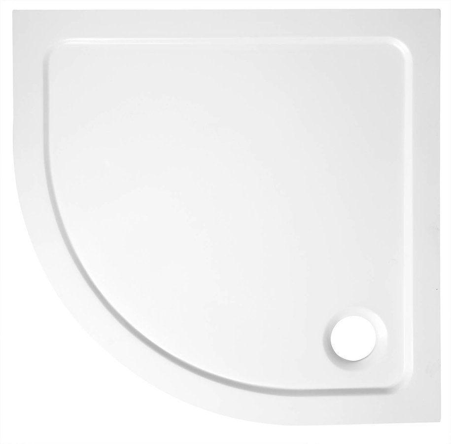 AQUALINE TECMI sprchová vanička z litého mramoru, čtvrtkruh 80x80x3 cm, R55 (PQ558)