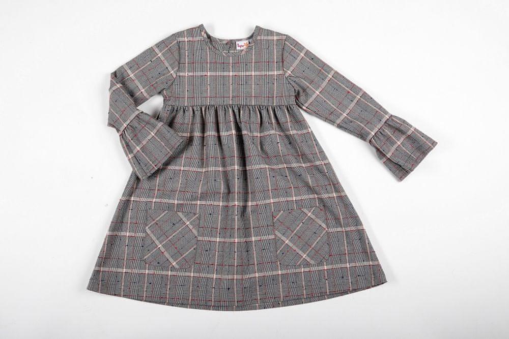 Topo dívčí šaty 146 šedá