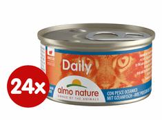 Almo Nature mokra hrana za mačke, pena z morskimi sadeži, 24 x 85 g