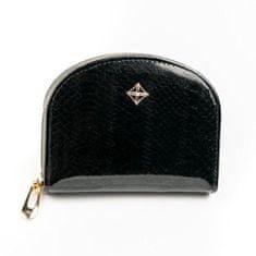 Lorenti Malá dámská peněženka na doklady Jily, lesklá černá