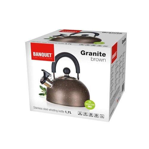 Banquet Nerezová konvice GRANITE Brown 1,7 l