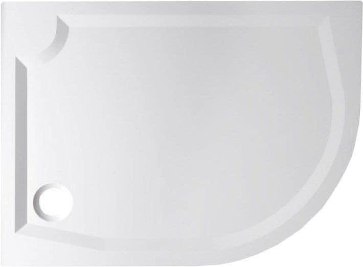 Gelco RIVA sprchová vanička z litého mramoru, čtvrtkruh 120x90cm, levá (GR1290L) (GR12090L)