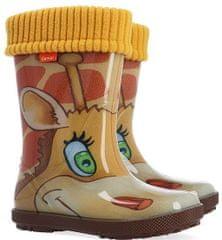 Demar Hawai Lux Print AK žirafa otroški škornji, oranžni, 34/35
