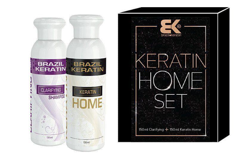 Brazil Keratin Kosmetická sada vlasové péče Keratin Home Set