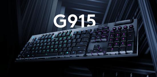 Logitech G915 LIGHTSPEED RGB brezžična mehanska gaming tipkovnica, GL Tactile