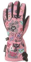 Matt 3216 Love Cats rukavice za djevojčice, ružičaste, 104/110