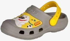 Coqui MAXI Talking Tom & Friends Mid. sandale za dječake Grey/Yellow, 22,5, sive