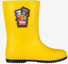 Coqui Rainy Talking Tom & Friends dekliški škornji Yellow/Antracit, 27, rumeni