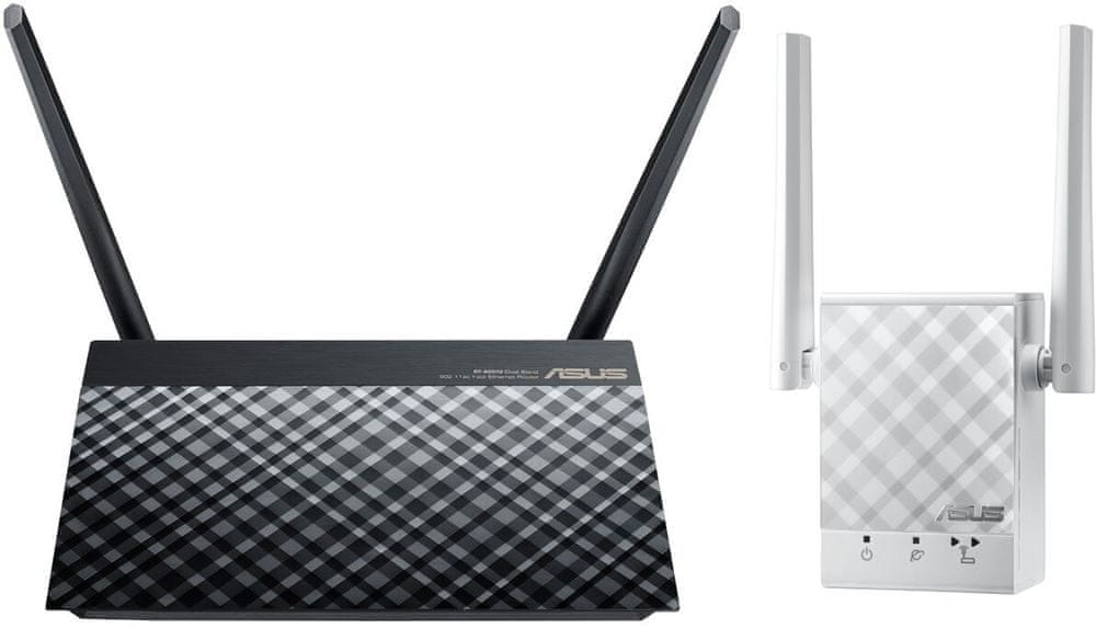 Asus AC750 KIT - Router RT-AC51U + Repeater RP-AC51 (90IG-AC750KIT)
